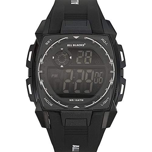 All Blacks-680132-Zeigt Herren-Quartz Digital-Zifferblatt schwarz Armband Kunststoff schwarz