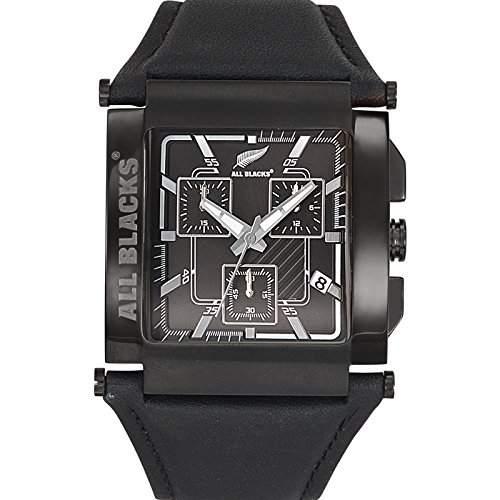All Blacks Herren-Armbanduhr Analog Quarz Schwarz 680148