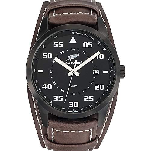 All Blacks Herren-Armbanduhr Analog Quarz Braun 680160