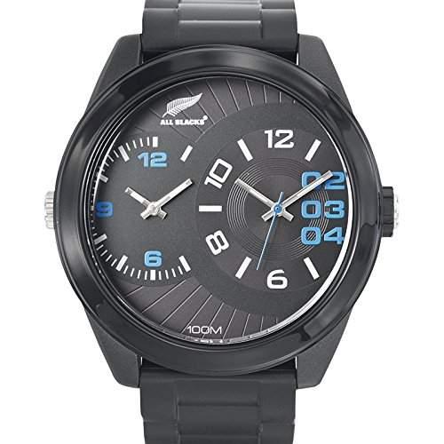 All Blacks-680223-Armbanduhr-Quarz Analog-Zifferblatt schwarz Armband Kunststoff schwarz