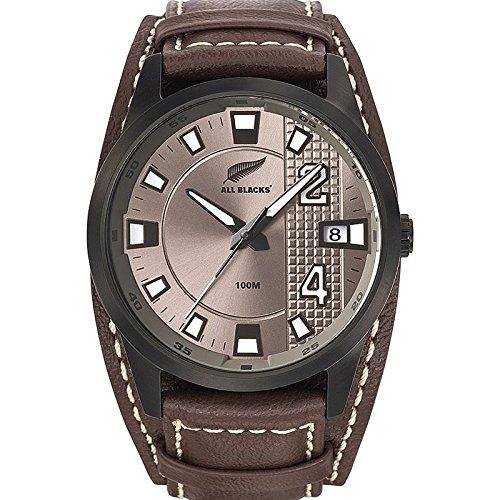 All Blacks 680209 Zeigt Herren Armbanduhr 1076312 Analog Leder Braun