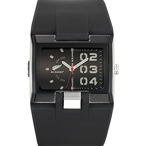 All Blacks 680177 Armbanduhr Quarz Analog Zifferblatt schwarz Armband Kunststoff schwarz