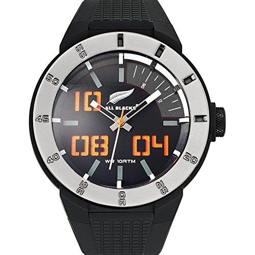 All Blacks 680243 Armbanduhr Quarz Analog Zifferblatt schwarz Armband Kunststoff schwarz