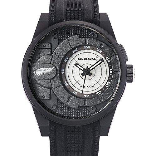 All Blacks 680289 Armbanduhr Quarz Analog Zifferblatt schwarz Armband Silikon Schwarz