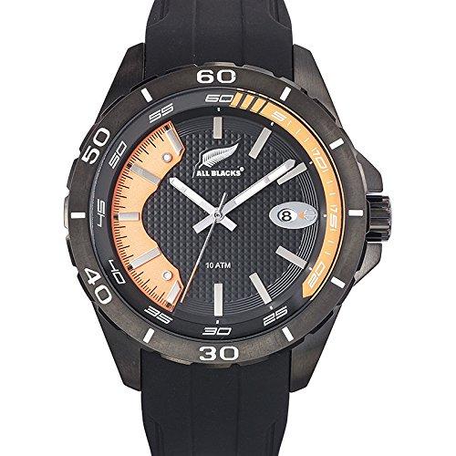 All Blacks 680287 Armbanduhr Quarz Analog Zifferblatt schwarz Armband Silikon Schwarz