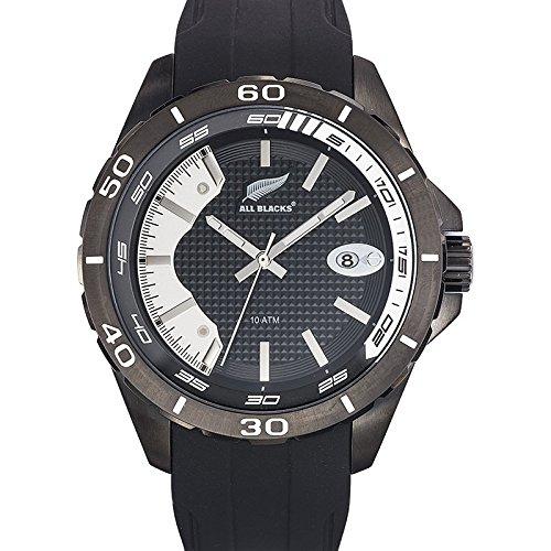 All Blacks 680286 Armbanduhr Quarz Analog Zifferblatt schwarz Armband Silikon Schwarz