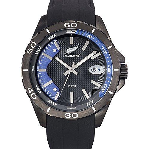 All Blacks 680285 Armbanduhr Quarz Analog Zifferblatt schwarz Armband Silikon Schwarz