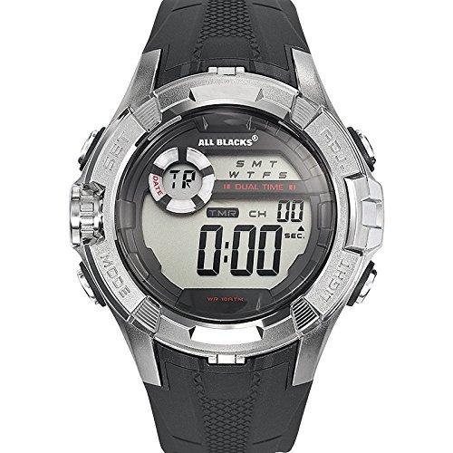 All Blacks 680233 Zeigt Herren Quartz Digital Zifferblatt schwarz Armband Kunststoff schwarz