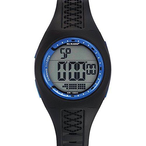 All Blacks 680281 Zeigt Herren Quartz Digital Zifferblatt Blau Armband Kunststoff schwarz
