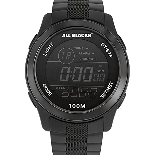 ALL BLACKS HerrenArmbanduhr Digital Quarz PU 680082