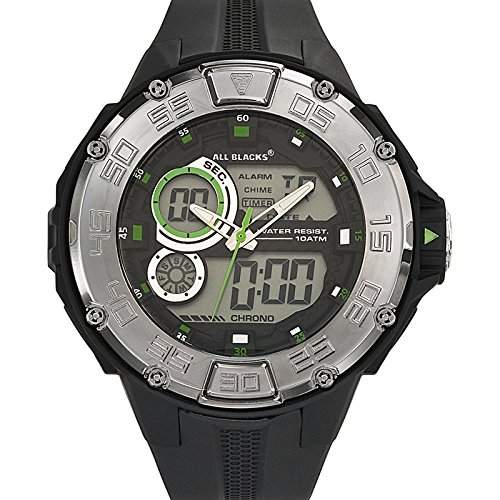 All Blacks Herren-Armbanduhr 680124 Quarz Schwarz 680124