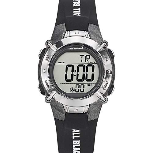 All Blacks-680191-Zeigt Jungen-Quartz Digital-Zifferblatt schwarz Armband Kunststoff schwarz