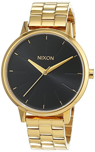 Nixon Kensington All Gold Black Sunray Analog Quarz Edelstahl beschichtet A0992042 00