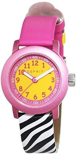 Esprit Unisex-Armbanduhr Cutie Face Pink Analog Quarz Leder ES106414031