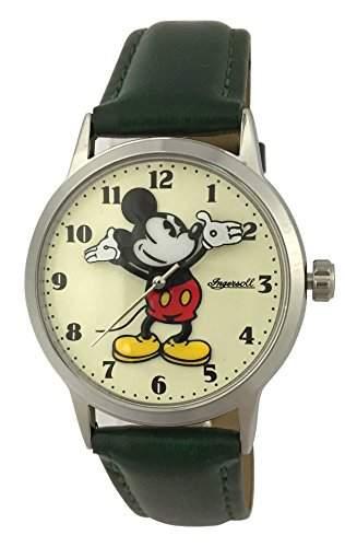 Disney-Armbanduhr Quarz analog Leder Gruen