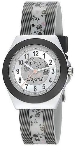 Esprit Maedchen-Armbanduhr Rosy Garden Grey Analog Quarz Plastik ES105314004