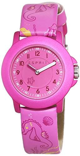 Esprit Unisex-Armbanduhr Sea Playground Pink Analog Quarz Leder ES103454012