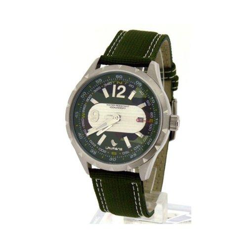 Laurens Herren Armbanduhr Analog Quarz Gruen 025827CC