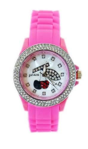 "Damen-Armbanduhr ""Heisse Kirsche""in Pink K165"