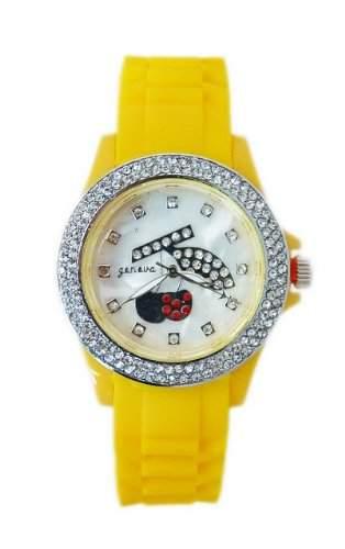 """Damen-Armbanduhr """"Heisse Kirsche""""in Sonnengelb K95"""