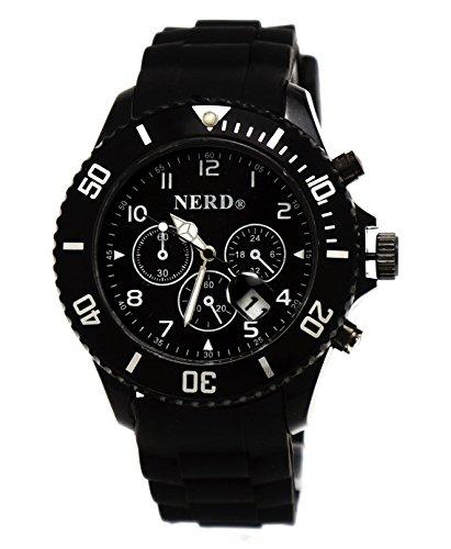 Originale Nerd Armbanduhr in Schwarz