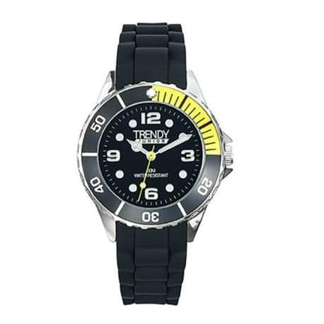Trendy Junior 339 KL-Jungen-Armbanduhr Regate Quarz analog Silikon, Schwarz