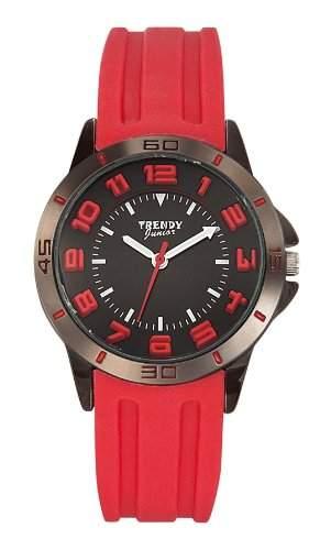 Trendy Junior Unisex-Armbanduhr Analog Silikon schwarz KL208