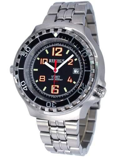 Automatik Taucher Uhr m Edelstahlband u Helium Ventil RS021M