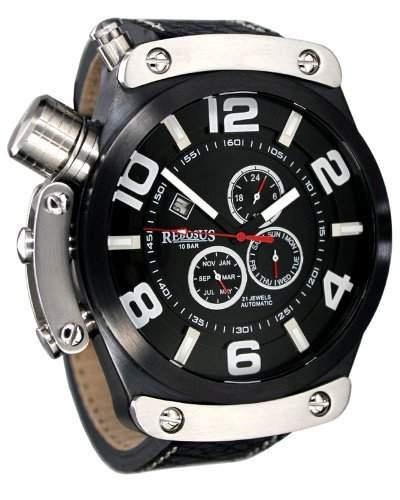 XXL Automatik Uhr - 51 mm -Schutzkrone auf 10 Uhr 3D Ziffernblatt