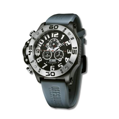 Offshore Limited Herren-Armbanduhr XL Tornade Chronograph Silikon 009 A
