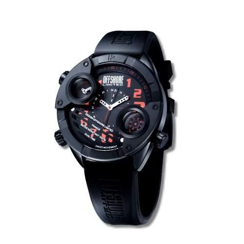 Offshore Limited Herren-Armbanduhr XL Cockpit Analog Silikon 010 F