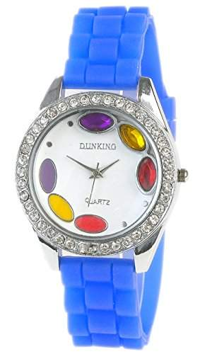 Damenarmbanduhr Stone Colors in Blau