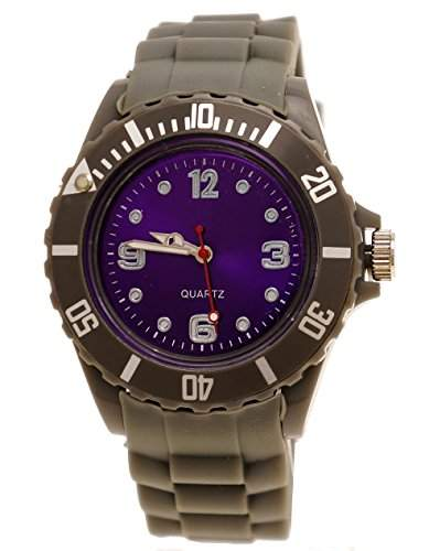 Armbanduhr Unisex Grau-Lila