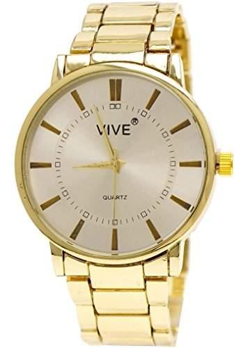 Edle Armbanduhr Stahlarmband Gold Silber