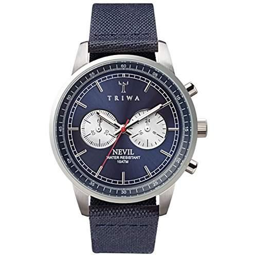 Triwa Unisex-Armbanduhr Analog Quarz One Size, blau, blau