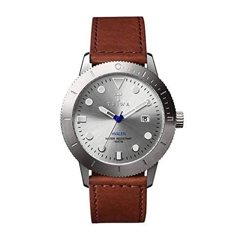 TRIWA Stirling Hvalen Armbanduhr braunsilber HVST102_SC010212