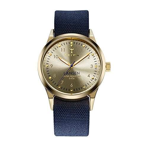 TRIWA Gold Lansen Armbanduhr blaugoldfarben LAST108_MO060713