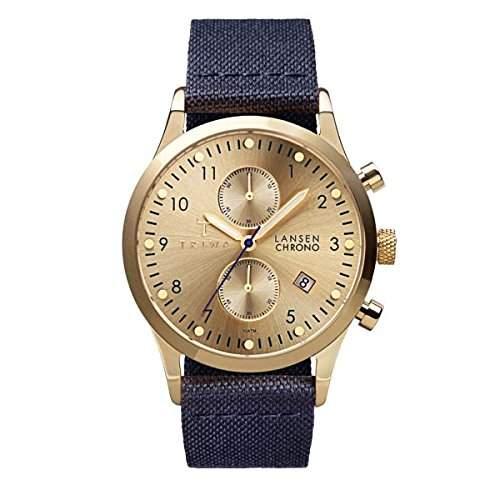 TRIWA Gold Lansen Chrono Armbanduhr blaugoldfarben LCST103_CL060713