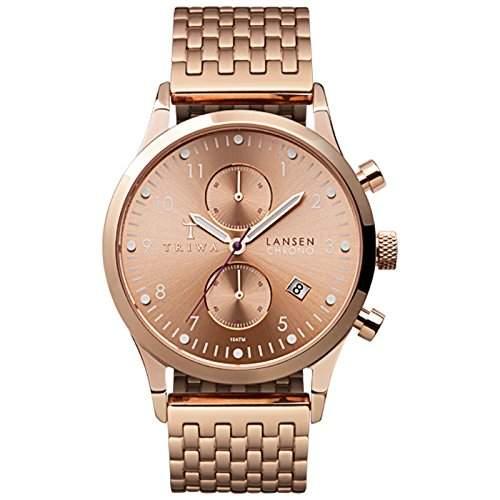 TRIWA Rose Lansen Chrono Armbanduhr roségoldfarben LCST104_BR021414