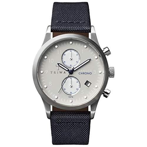 TRIWA Shade Lansen Chrono Armbanduhr dunkelblausilbergrau LCST111_CL060712