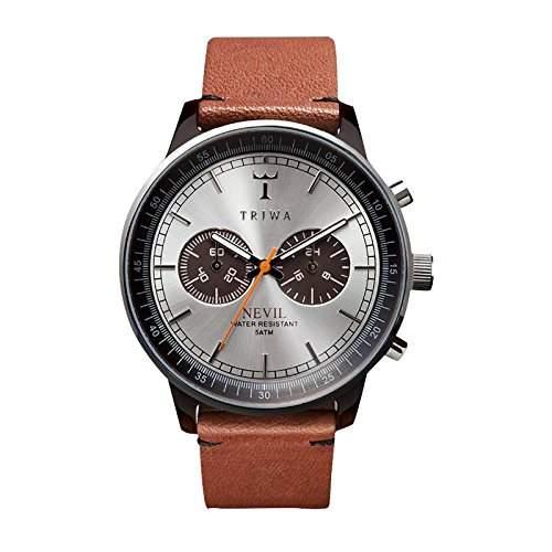 TRIWA Havanna Nevil Armbanduhr braunschwarzbraunsilber NEAC102_ST010212
