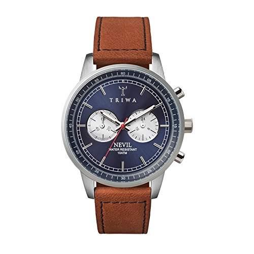 TRIWA Blue Steel Nevil Armbanduhr braunsilberblau NEST108_SC010216