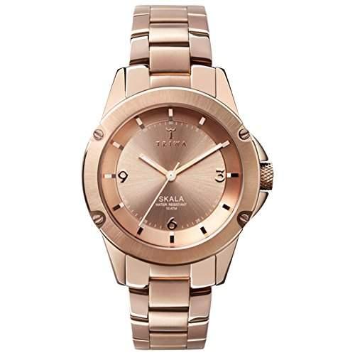 TRIWA Rose Skala Armbanduhr roségoldfarben SKST102_BK021414