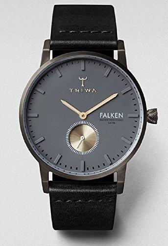 Triwa Walter Falken Unisex Uhr mit Schwarz Classic Leder Band fast102 cl010113
