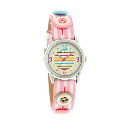 Little Marcel-LM33PKC-LM33-Zeigt Kinder-Armbanduhr KL129Analog Leder Rosa
