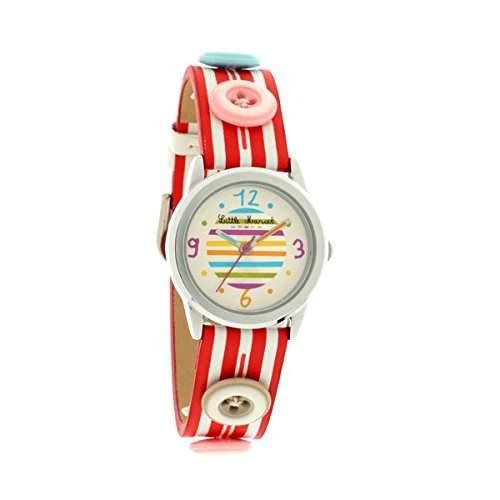 Little Marcel, LM33RDC LM33-Kinder-Armbanduhr Lolla Quarz analog Leder Rot