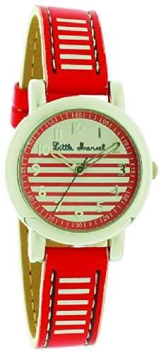 Little Marcel-LM05RDC3-LM05V3Damen-Armbanduhr 045J699Analog mehrfarbig-Armband Leder zweifarbig