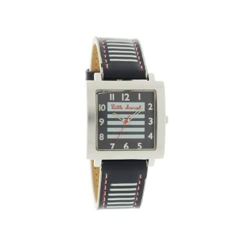 Little Marcel-LM08NVC3-LM08V3Damen-Armbanduhr-Quarz Analog-Zifferblatt Blau Armband Leder zweifarbig