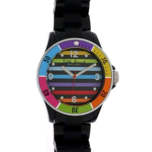 Little Marcel, LM22BKR-LM22 Damen-Armbanduhr Alyce Quarz analog, Kunstharz, Schwarz