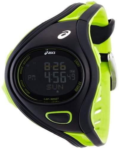 Asics Unisex-Armbanduhr DIGITAL SPORTWATCH CHALLENGE S schwarzgruen Digital Plastik CQAR0308